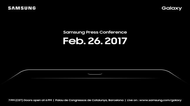 شركة سامسونج تكشف عن هاتف لوحي Galaxy Tab S3 الذي سيعرض ضمن فعاليات معرض برشلونة العالمي للجوالات MWC 2017