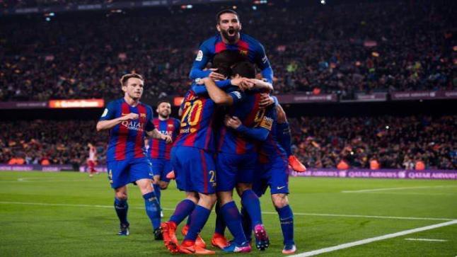 تقرير مباراة برشلونة واتلتيكو مدريد ضمن بطولة كأس ملك اسبانيا منحة الفوز للفريق الكتالوني لنهائي الكاس