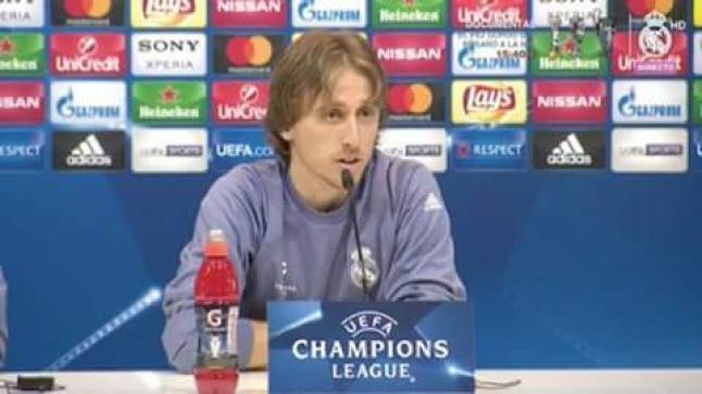 المؤتمر الصحفي لأمير الكروات لوكا مودريتش للحديث عن مباراة فريقه امام نابولي