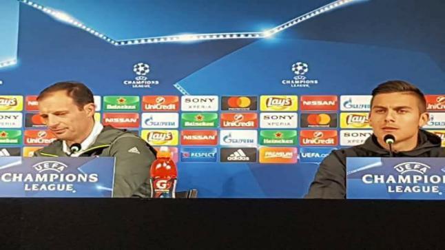 المؤتمر الصحفي للمدرب ماسيمليانو أليغري ونجم الفريق باولو ديبالا الخاص بمباراة الغد لمواجهة بورتو ضمن إياب دور ال16 من دوري أبطال أوروبا