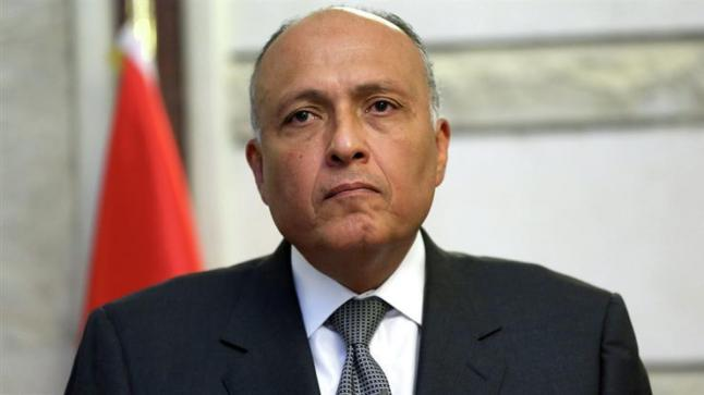 """وزير الخارجية المصرية يؤكد لـ""""جوتيريش"""" دعم مصر للحل السياسى الليبى بعيدا عن التدخلات الخارجية"""