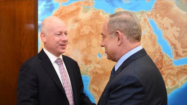 مباحثات إسرائيلية مع مبعوث ترامب لإحياء عملية السلام قبل لقائه بالرئيس الفلسطيني محمود عباس