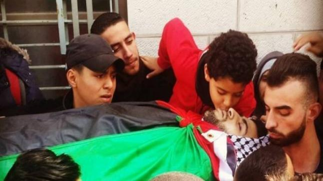 إستشهاد فلسطيني برصاص قوات الإحتلال