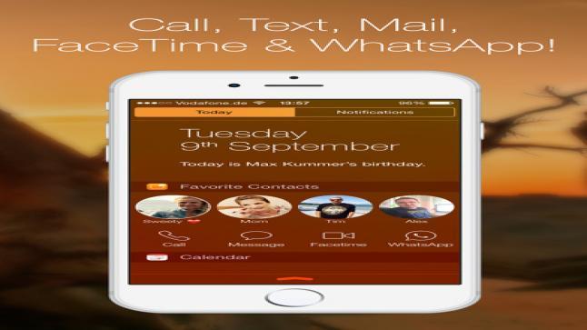 تطبيق Favorite Contacts من أجل وضع جهات الاتصال الخاصة بك