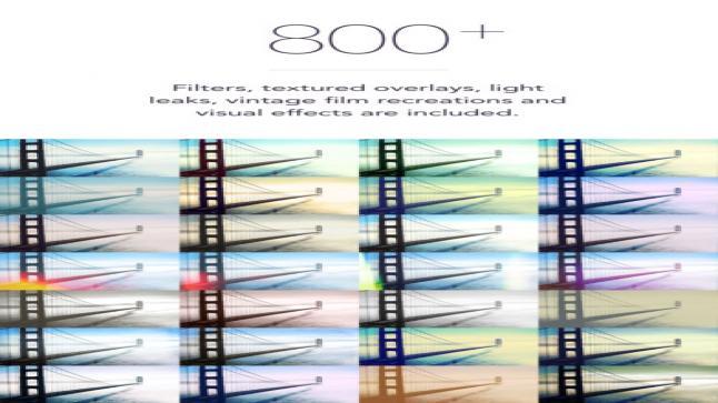 تطبيق Filters بمميزات عديدة ومختلف واكثر من 300 فلتر