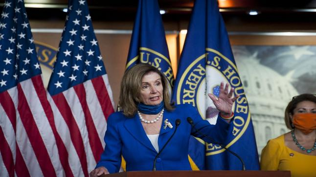 نانسي بيلوسي تتوعد اعضاء مجلس النواب الغير ملتزمين بوضع الكمامات