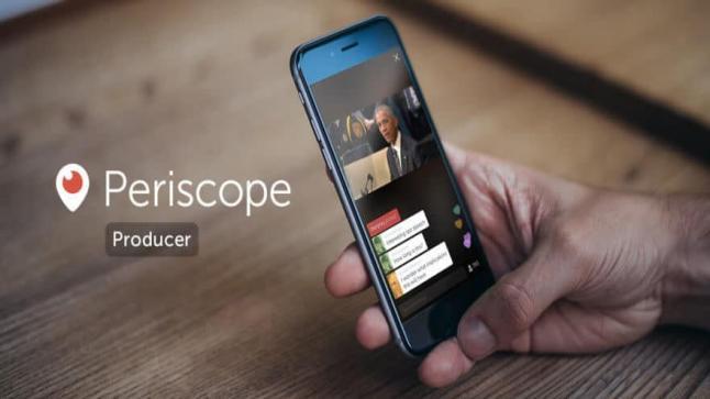 إطلاق خدمة Periscope Producer البث المباشر من قبل تويتر