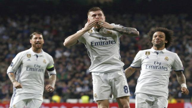 ريال مدريد يضع قدم في نصف نهائي دور ابطال اوروبا على حساب نابولي