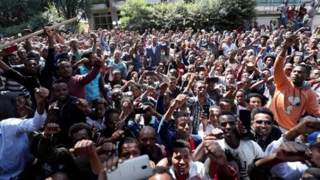 عشرة قتلى وعشرات الجرحى في احتجاجات عرقية بإثيوبيا
