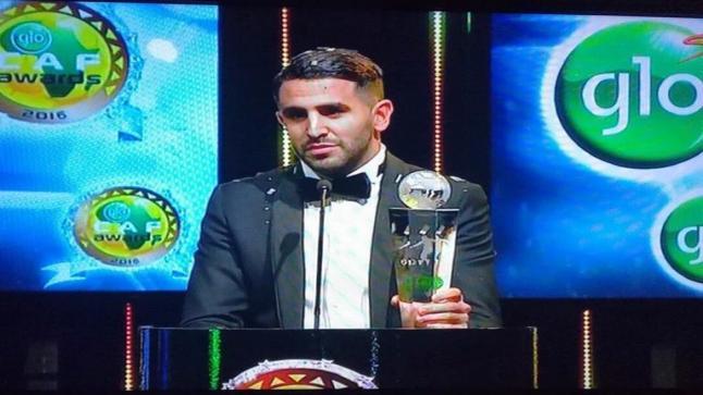 تتويج محرز بجائزة أفضل لاعب افريقي بعد تفوقه على أوباميانج وساديو ماني