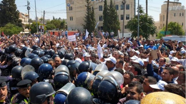الشرطة الأردنية تسيطر على احتجاجات نقابة المعلمين